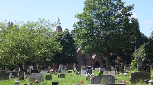 We find the main graveyard and crematorium. Always of interest to Sarah.
