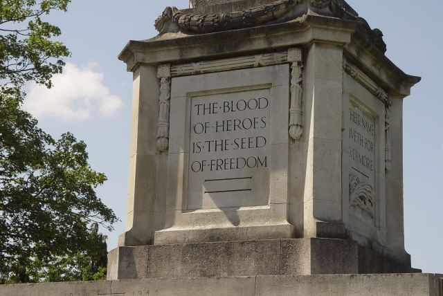 And the town's War Memorial.