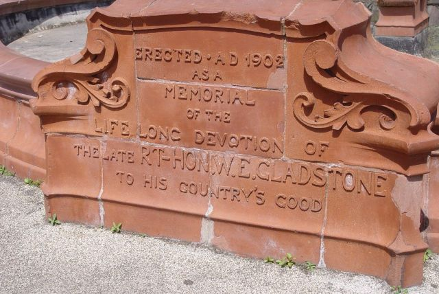 But dedicated to Gladstone. This has obviously been a wealthy place.