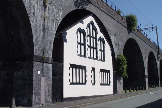 This church, built into this arch of the rail bridge 20 years after the bridge was constructed. Splendidly eccentric.