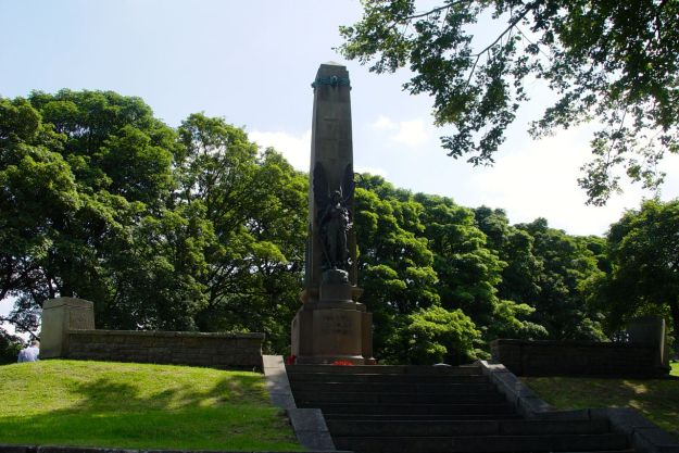 Up here at the top of The Slopes is the town's war memorial.