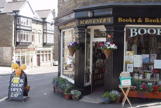 Round the corner, Scrivener's. Five floors of books.