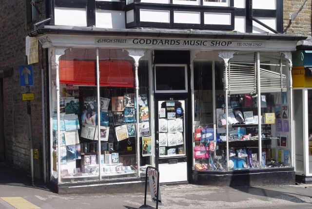At least Scrivener's is open. Whereas the record shop over the road?