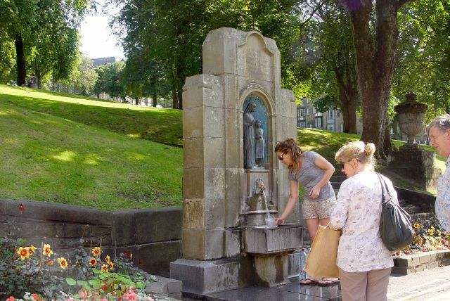 At the foot of The Slopes is the spring where Buxton water flows from a mile underground.