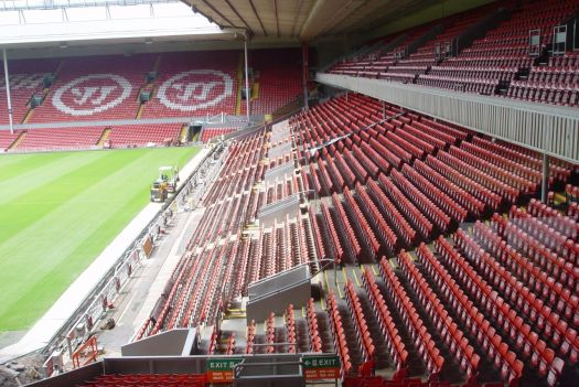 Just next to the Kop as was.