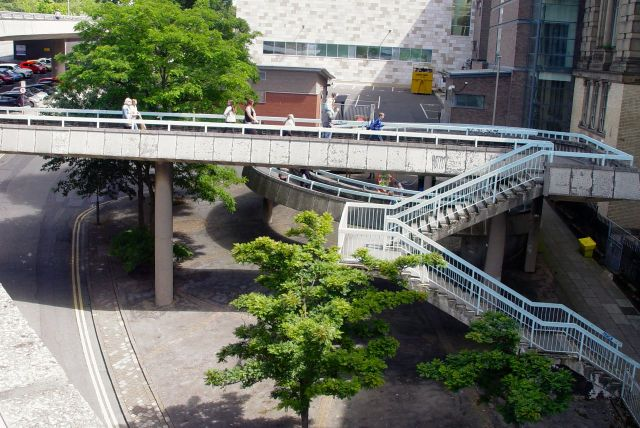 Ramps, stairs and walkways.