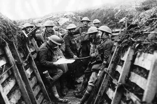 Liverpool Pals in the trenches.