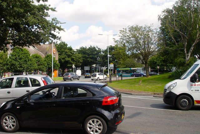 On Childwall Fiveways, Liverpool's busiest roundabout.