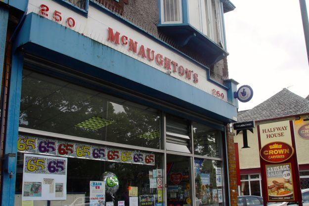 I buy an ice cream at McNaughton's.
