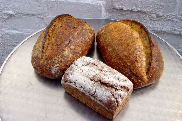 Baltic Granary, a Baltic Wild and a Rye loaf. All sourdough and - in my opinion, the finest bread on earth.