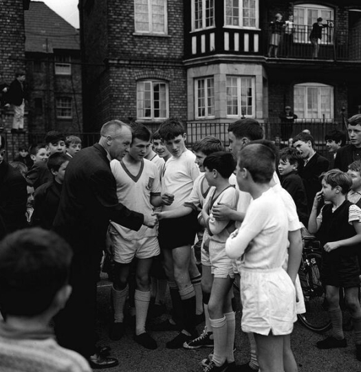 Bill Shankly at Eldon Grove, 1960s.