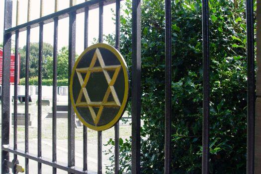 And the Hebrew cemetery next door.