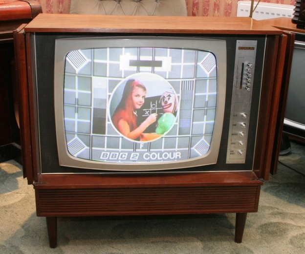 Colour TV has arrived.