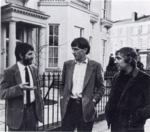 All together in 1978. Dave Bebb, LHT, Neil McIntosh, Shelter and DesWilson, founder of Shelter.