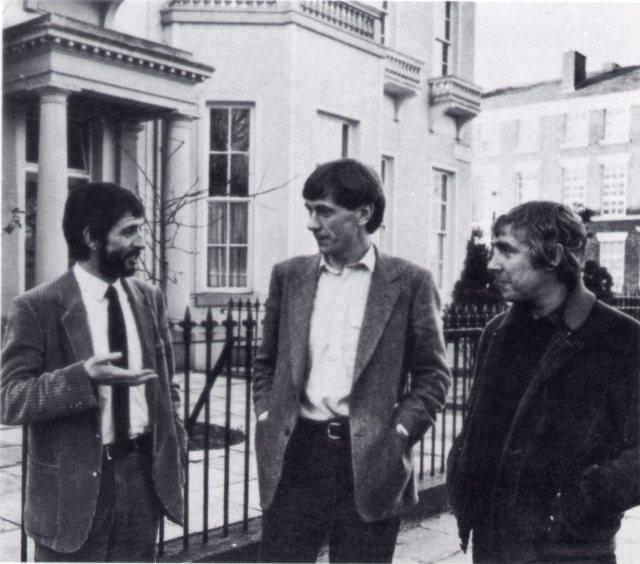 All together in 1978. Dave Bebb, LHT, Neil McIntosh, Shelter and DesWilson, founder of Shelter.