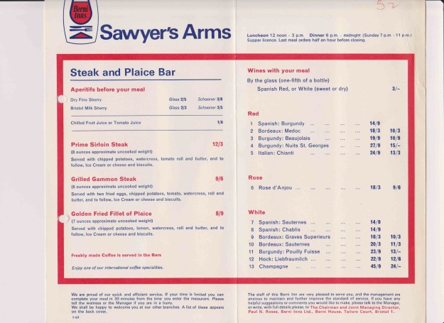 As you can see, prices - even for then - are amazingly cheap.
