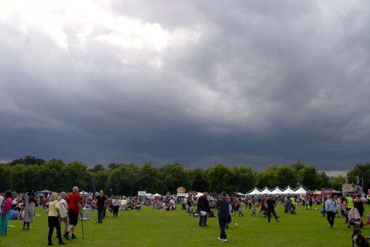In fact it doesn't rain.