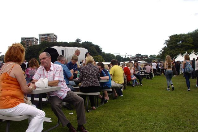 The place is now filling up with Liverpool people. Eating, drinking and enjoying themselves.