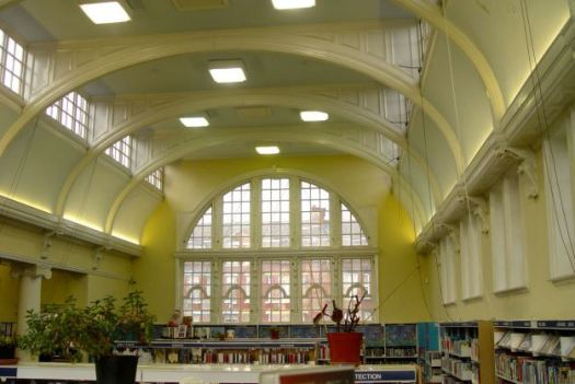 Inside Kensington Library.