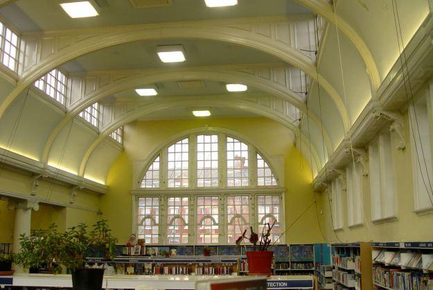 Inside Kensington Library.