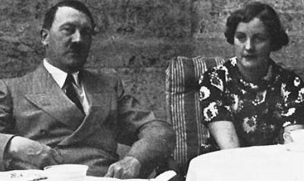 Unity Mitford with her besotted friend. Yes you know who it is.