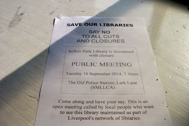 The people around Sefton Park Library are not letting it go lightly.