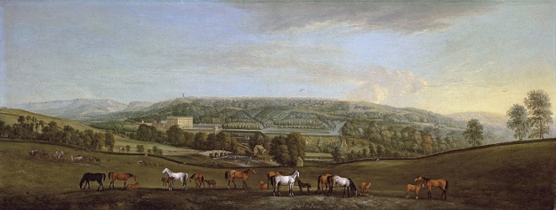 Chatsworth, home of the Cavendish family, the Dukes of Devonshire. Squatting at the top of the greed-heap of the English class system since the middle of the 15th century.