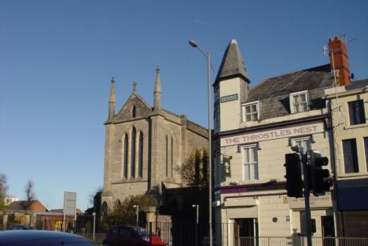These are pretty much the only buildings on Scotland Road not to have changed in the 40 years since I worked here - the church and the pub.