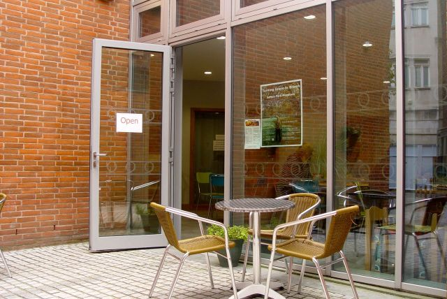 The café is being run as a joint venture with local social enterprise Blackburne House.