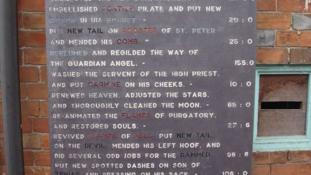 And an advert for the stonemason's work...
