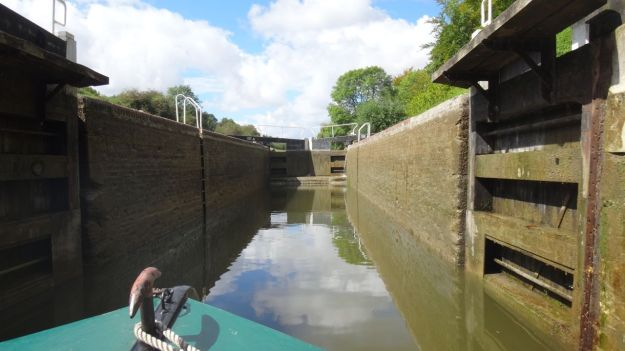 And view inside a lock.