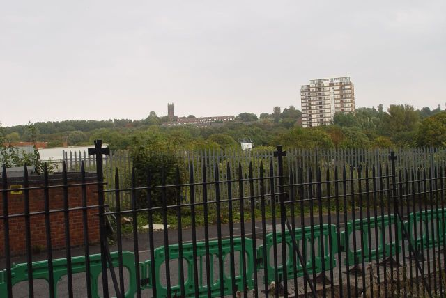 And soon our time is done, and we emerge looking up the hill to Everton, across where St Anthony's School used to be.