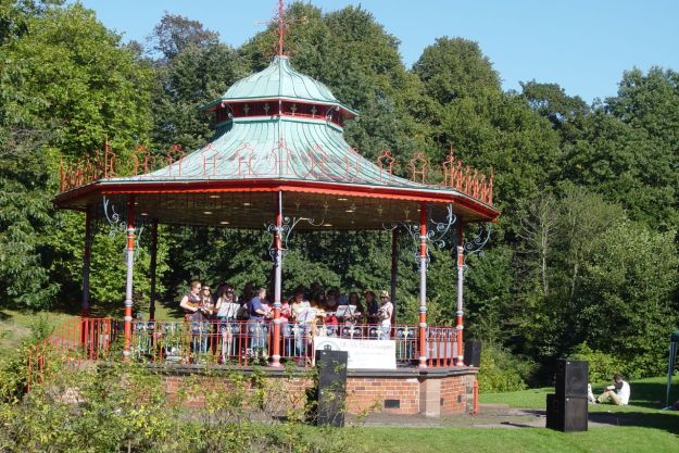 So I go to the Bandstand to listen to some music.