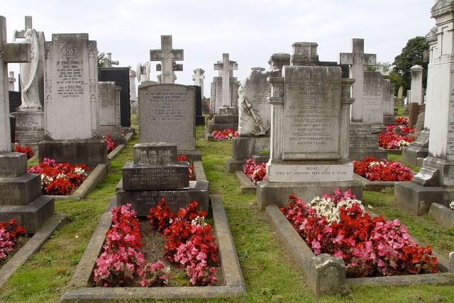 And municipal planting on graves, never seen that done anywhere else.