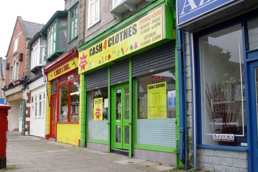 Close to a 'Cash for Clothes' shop much like at the end of our road in Liverpool.