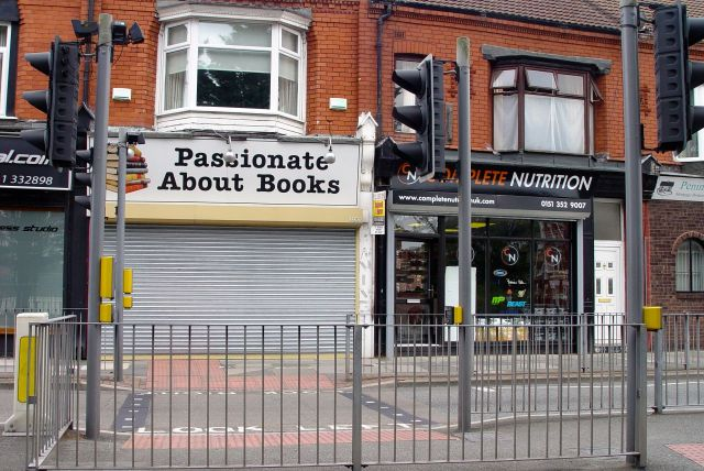 The bookshop's closed and 'Total nutrition' isn't selling any actual food.
