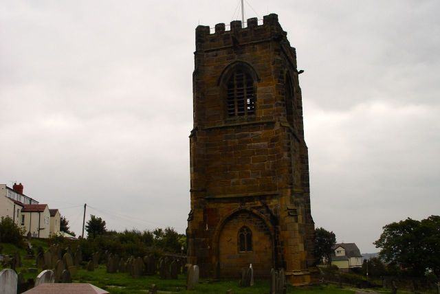 And the tower of the previous church, built in 1530.