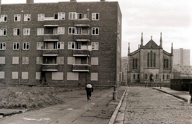 Scotland Road when I worked here. Woodstock Gardens and St Anthony's church.