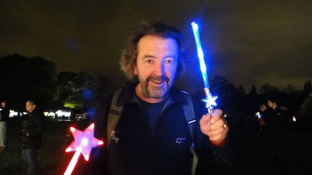 I'll turn up with a light sabre, doing my annual impression of an ageing member of Black Sabbath.
