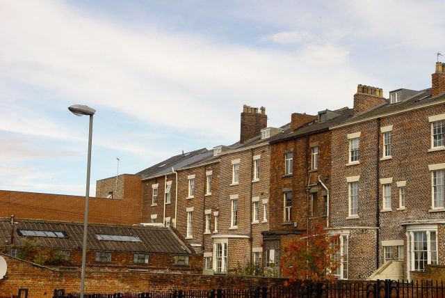 Turning into Haigh Street, at the back of Shaw Street.