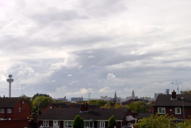 Looking down from Netherfield Brow, the City.