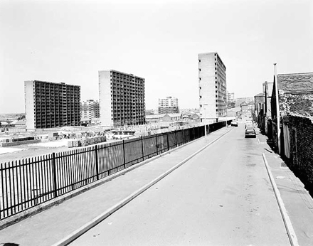 Haigh Street back then, the Piggeries at the end there.