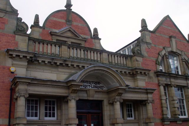Out onto Wavertree High Street and our threatened library - 'But beautiful'