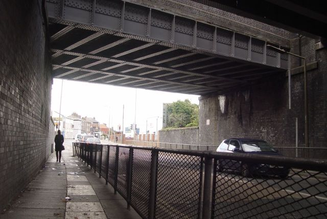And under the main Liverpool to London line.