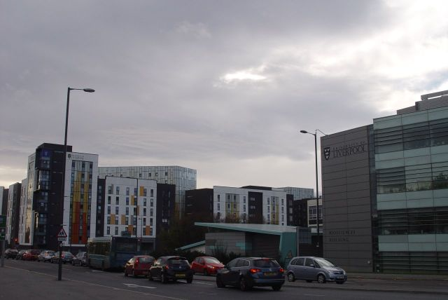 The town of the University of Liverpool.