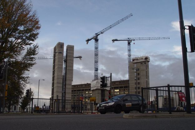 I'm inching my way round the ring road and the building works.