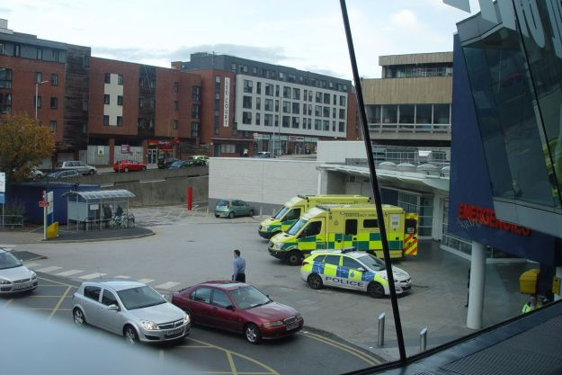 But the WRVS café is closed and the Costa's full. So I leave the hospital.