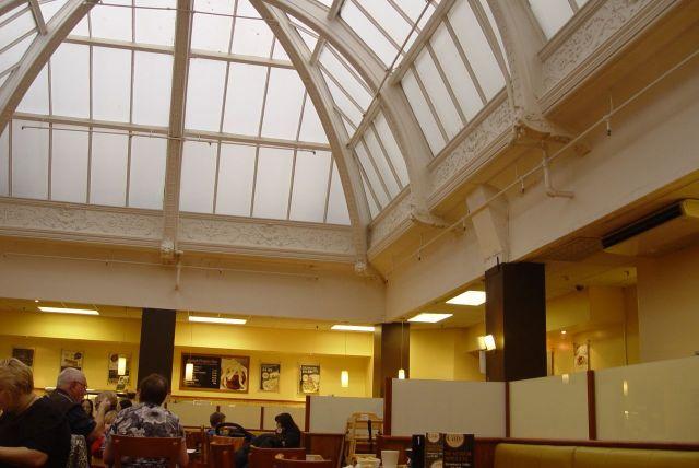 TJ's café. A place of light, splendour and friendly service.