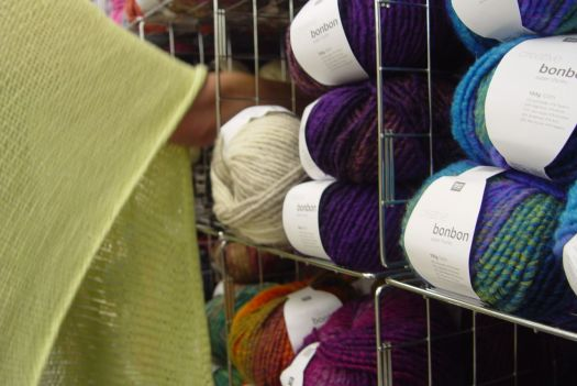 Getting to the wool Sarah springs immediately into world class shopping action.