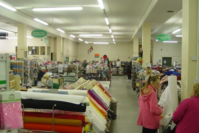 But textiles take up most of the floor space.